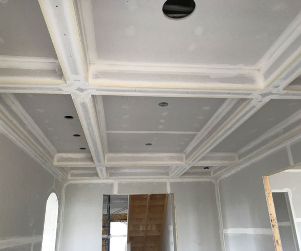 Drywall Installation with Windows