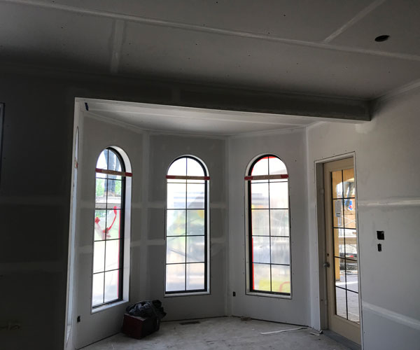 Drywall Ceiling with Custom Framing
