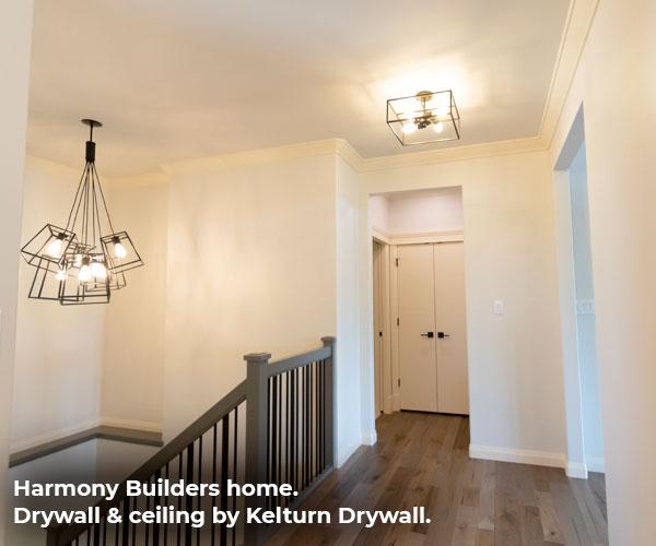 Upstairs Hallway Drywall